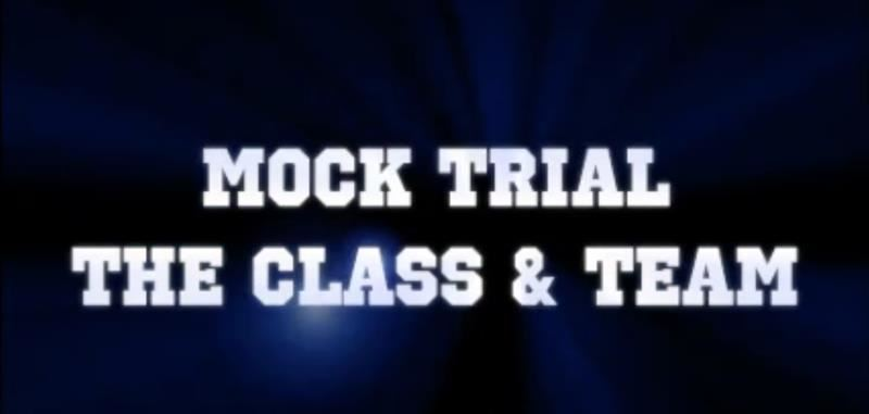 Introducing Mock Trial, the Class and the Team!